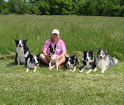 Lisa Bonker and dogs